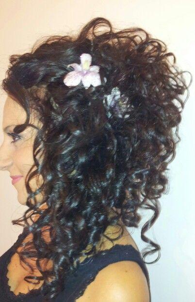 Acc sposa su capelli naturali ripresi con il ferro