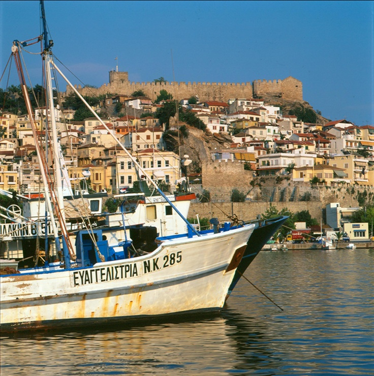#Kavala, sea and castle #Greece