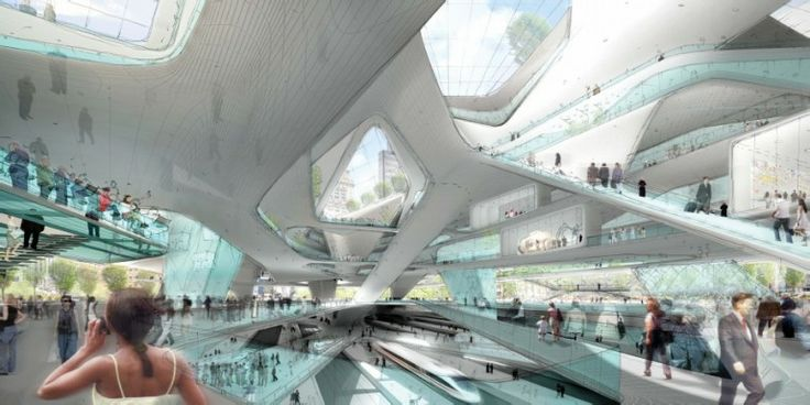 Interior view of Penn Station by DS+R Design (Image: DS+R Design)