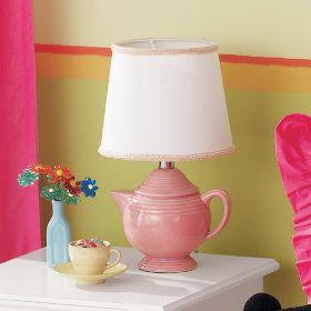 yup. it's a teapot lamp.: Lamps, Teapot Lamp, Teacup Saucer, Hot Tea, Tea Kettles, Tea Obsession, Tea Lights