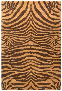 Safaviehu0027s U0027Sohou0027 SOH434C Black And Gold Animal Print Rug