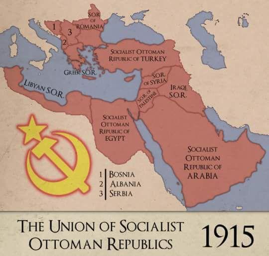 Sosyalist bir Osmanlı'nın nasıl olacağını gösteren harita.