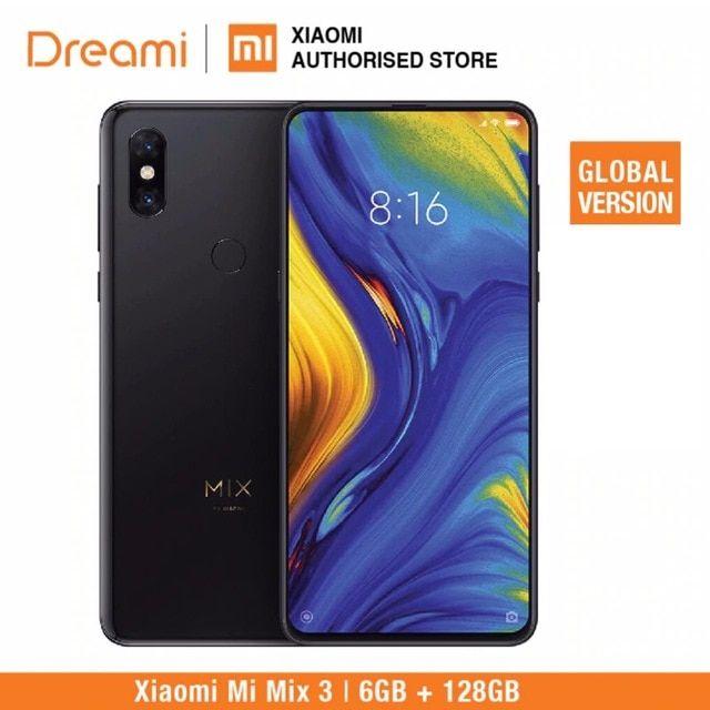 Global Version Xiaomi Mi Mix 3 128gb Rom 6gb Ram Brand New And Sealed Box Review Xiaomi Biometrics Technology Rom