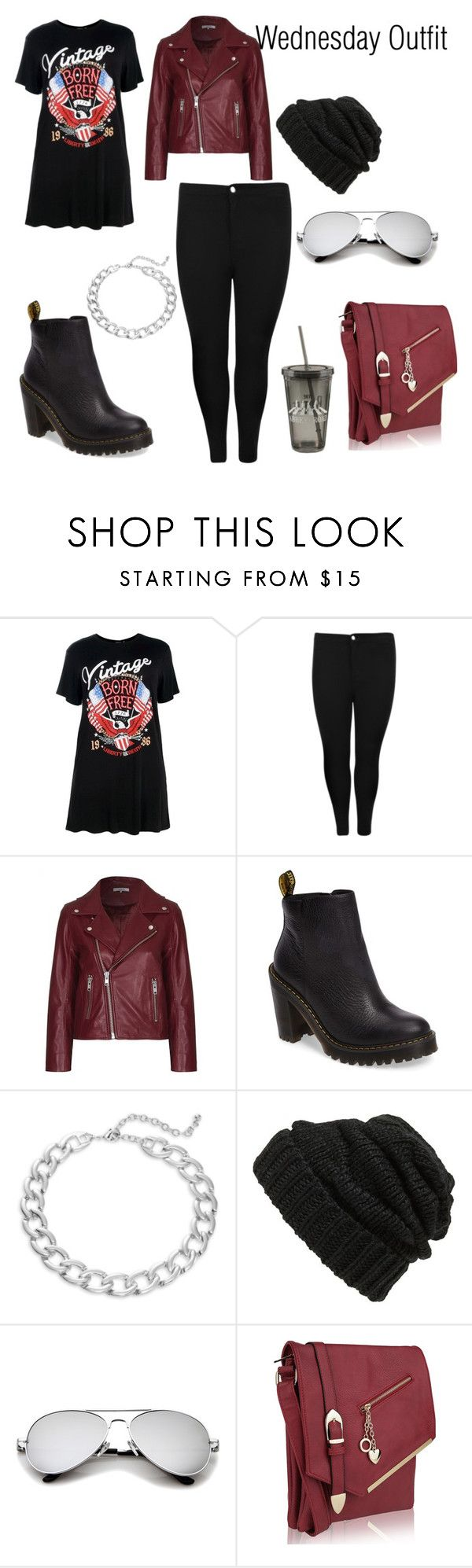 """""""Wednesday Outfit"""" by neonangel92 on Polyvore featuring Boohoo, Ganni, Dr. Martens, Design Lab, Leith and MKF Collection"""