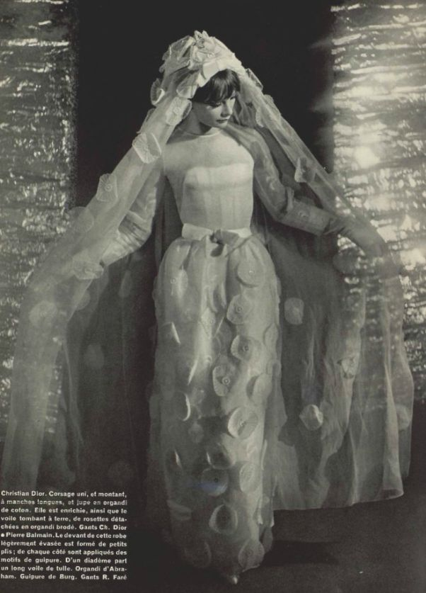 1965 Dior wedding dress