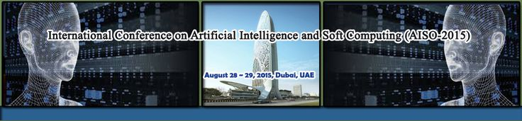 International Conference on Artificial Intelligence and Soft Computing (AISO-2015) will provide an excellent international forum for sharing knowledge and results in theory, methodology and applications of Artificial Intelligence, Soft Computing.   http://csen2015.org/aiso/index.html