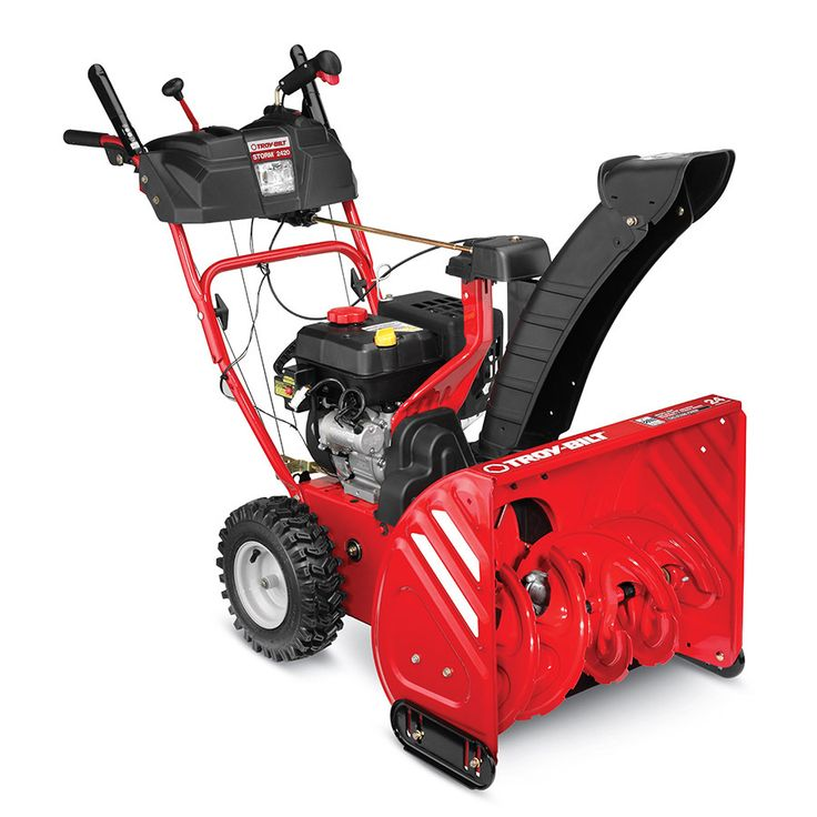 Troy-Bilt Storm 2420 208-cc 24-in Two-Stage Electric Start Gas Snow Blower with Headlight