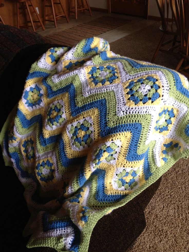 Crochet Granny Ripple Afghan Pattern Image Collections Knitting
