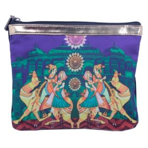 Bejeweled Multicolour Printed #Pouch #Bags #Fashion #Accessories