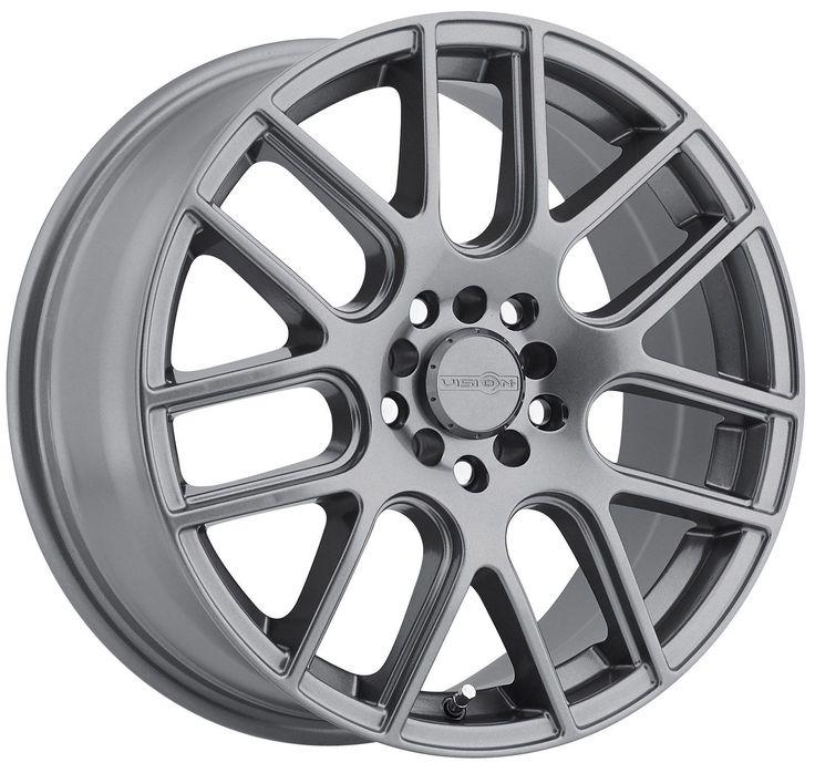 "5 Lug 5x100 5x114.3 5x4.5 Gunmetal 16"" Inch Mazda Vision"