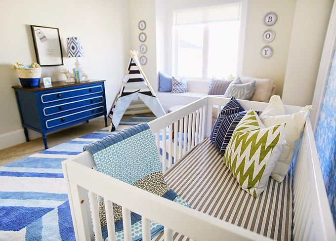 Boys Nursery Blue And Green Utah County Parade Of Homes