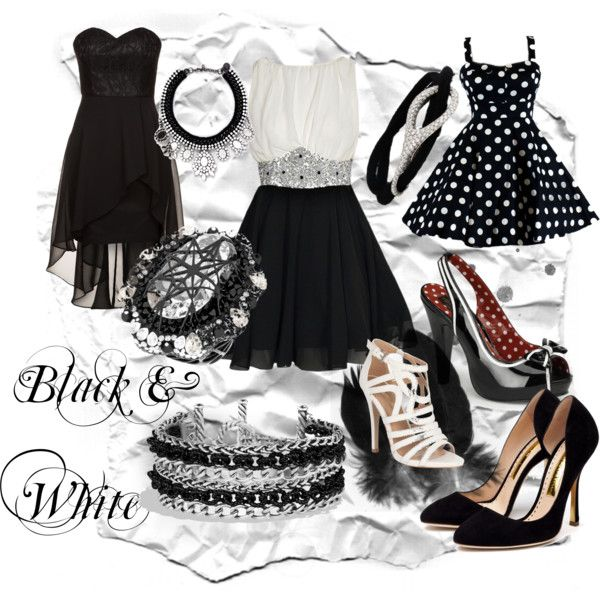 """Black&White"" by turtlespinach on #Polyvore"