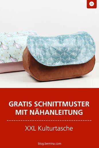 Anleitung für eine XXL-Kulturtasche mit Schnittmuster – mirella.design