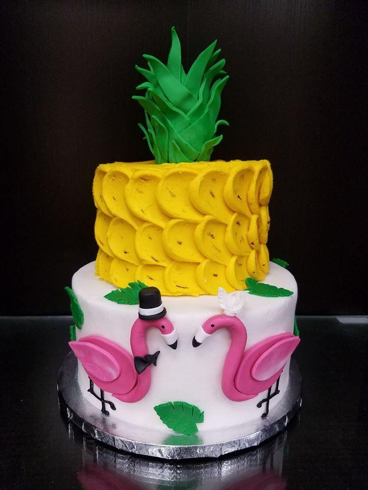 Pineapple Flamingo Cake In 2019 Flamingo Cake Birthday
