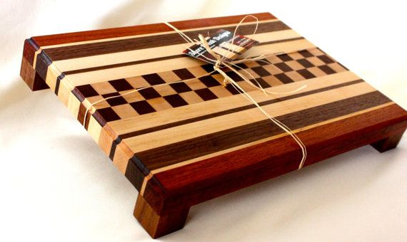 Exotic Wood Chop Block by shorebreakdesignscom on Etsy