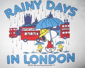 Rainy days in London.