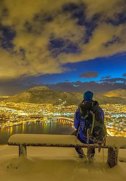 Winter in Bergen, Norway by Espen Haagensen. Wonder if Grandpa Nels sat and pondered a view like this before setting off for America. He left so much behind.