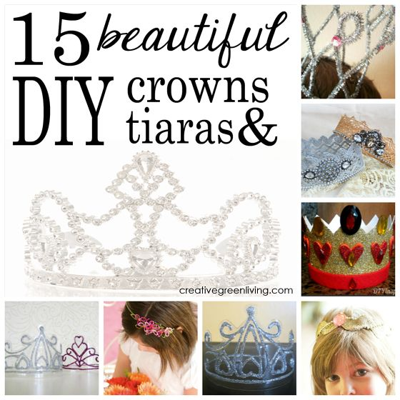15 DIY crowns and tiaras - perfect for queen or princess Halloween costumes