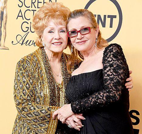 Debbie Reynolds & Carrie Fisher at the SAG Awards 2015