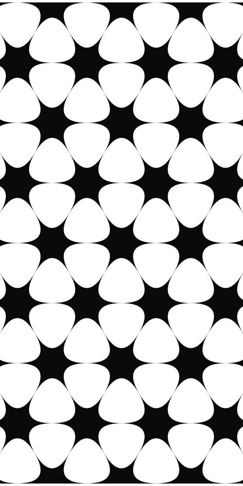 Repeating monochrome hexagonal vector star pattern background