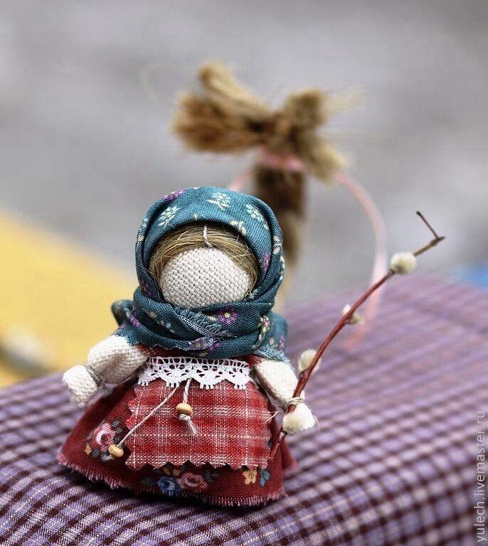 """Купить Куколка """"Вербочка"""" - куколка на счастье, куколка в кармашек, верба, коса, девочке, подарок девочке"""