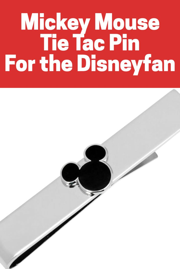 I love this Mickey Mouse tie tac bar. My boys love the bars since they don't leave holes in their ties and I love the cute Disney theme that's appropriate for work or church! #disney #mickeymouse #tietac #ad
