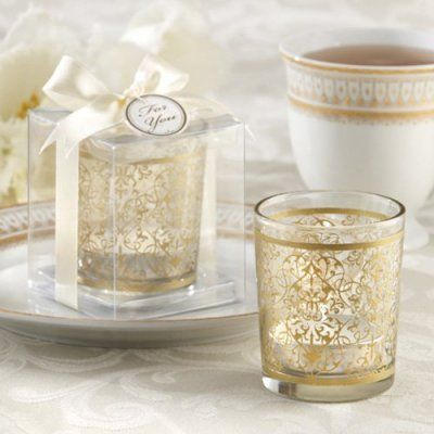 Golden Renaissance Glass Tea Light Holders set of 4 $7.28-$10.39