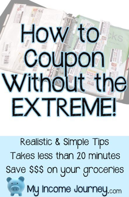 How to get started couponing and becoming a deliberate shopper. Save money on groceries and it doesn't take a lot of time. Great coupon tips, apps, and ideas! www.myincomejourney.com