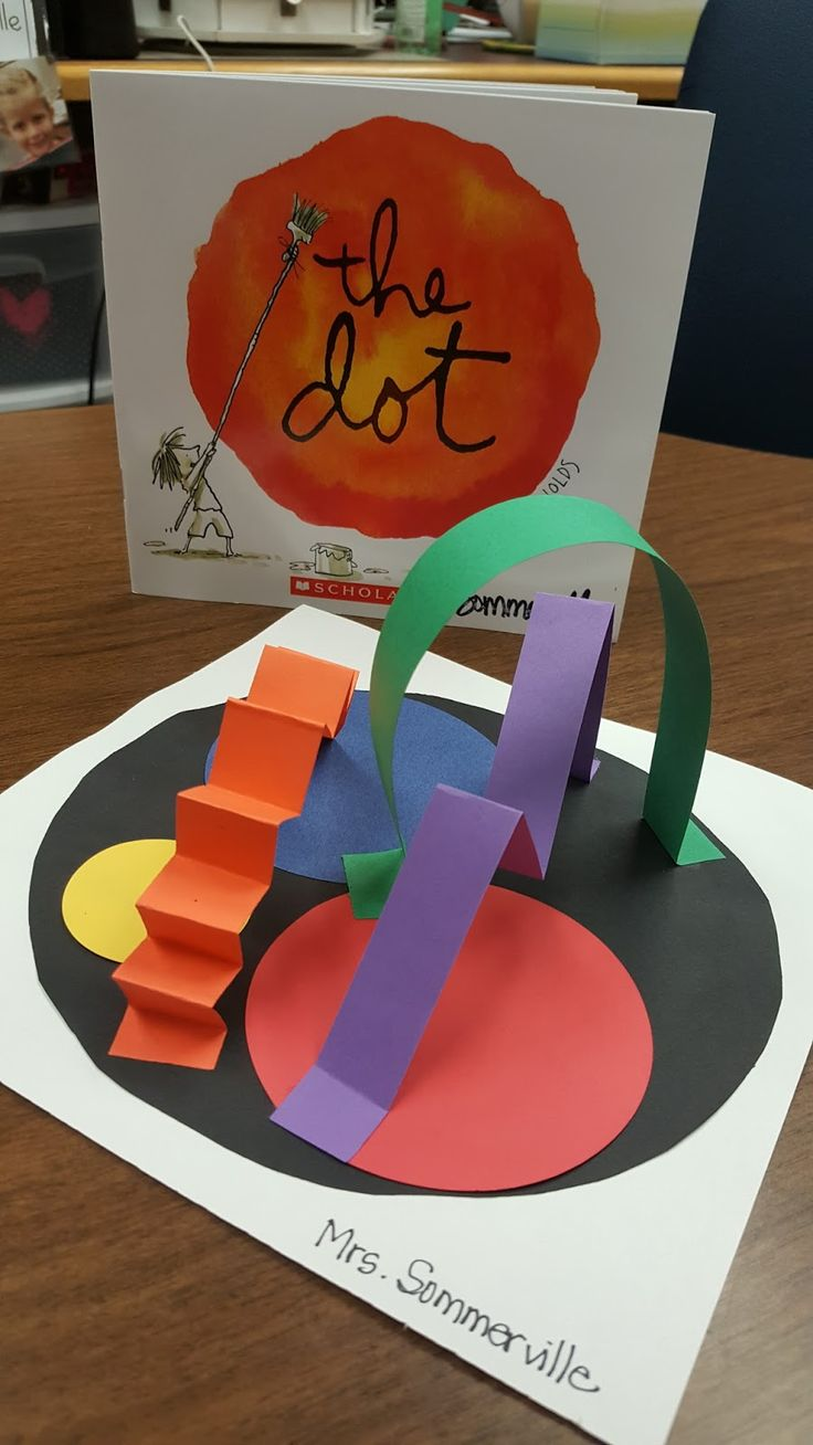 """Thanks to the alignment of our calendar and curriculum map this year, we're celebrating  DOT DAY at the end of our """"Colors All Around"""" unit..."""