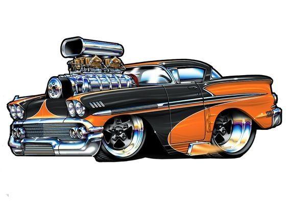 Best Car Art Images On Pinterest Hot Rod Cars Automotive