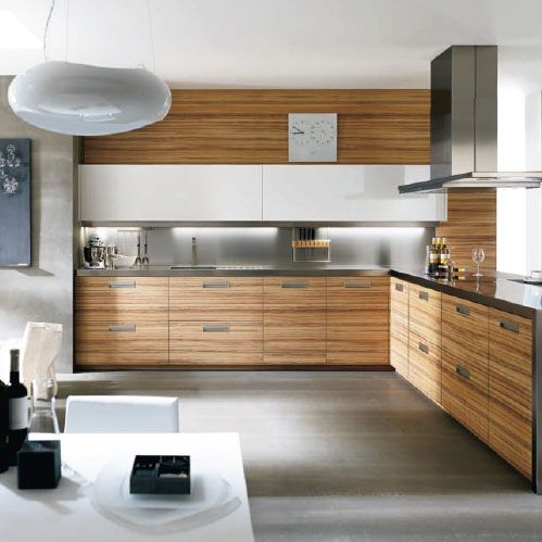 Cocinas abiertas y minimalistas muebles rectos y - Cocinas minimalistas pequenas ...
