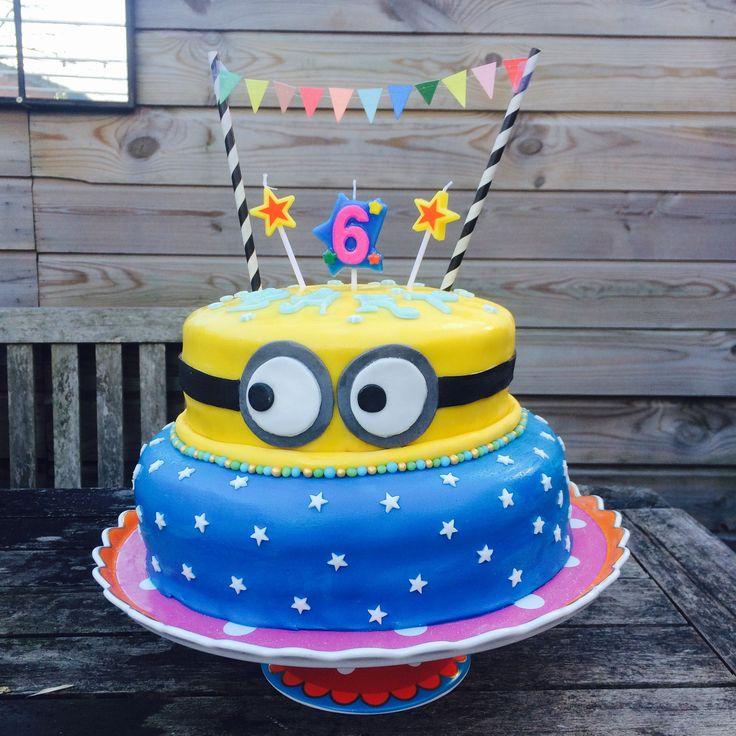 Minions cake birthday cake fondant cake verjaardagstaart kindertaart ...