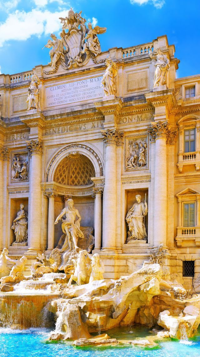 Trevi Fountain, Rome, Italy, Tourism, Travel