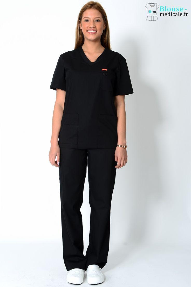 tenue médicale unisexe Orange noire