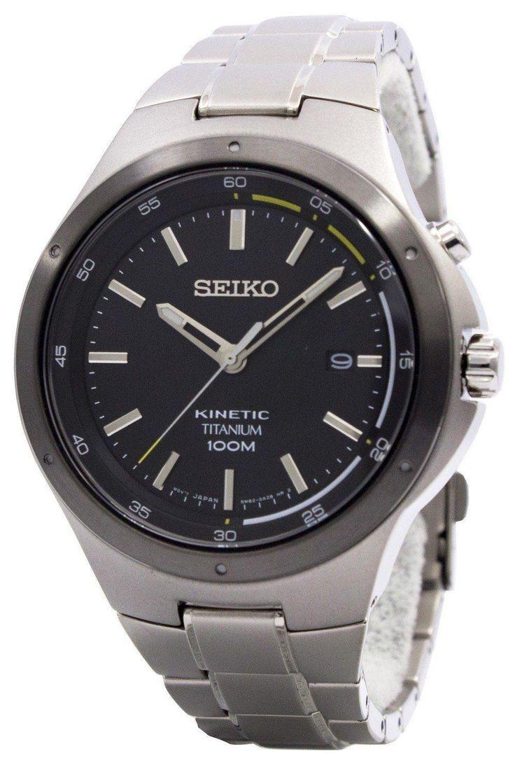 Seiko Kinetic Titanium Power Reserve Ska715 Ska715p1 Ska715p Men's Watch (FREE Shipping)