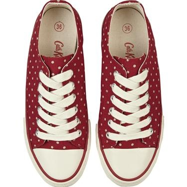 Our fun Mini Dot plimsolls in this gorgeous berry shade are great for dressing down and perfectly practical for days spent on your feet. I will own a pair of shoes like this :)