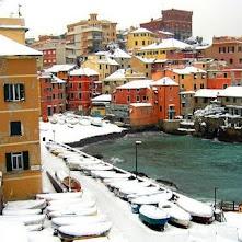 Genova Boccadasse, sotto la neve