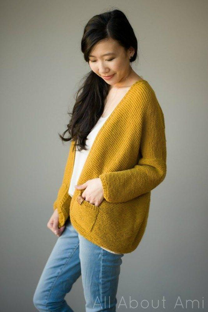 The Midtown Cardigan | knitted | Knitting patterns, Knit cardigan