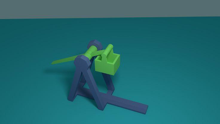 A counterweight catapult, or trebuchet.