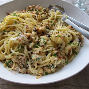 Roasted Cauliflower and Parmesan Pasta by Jessica Seinfeld