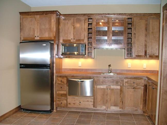 LDK bar area with mini dishwasher. Custom Lower Levels
