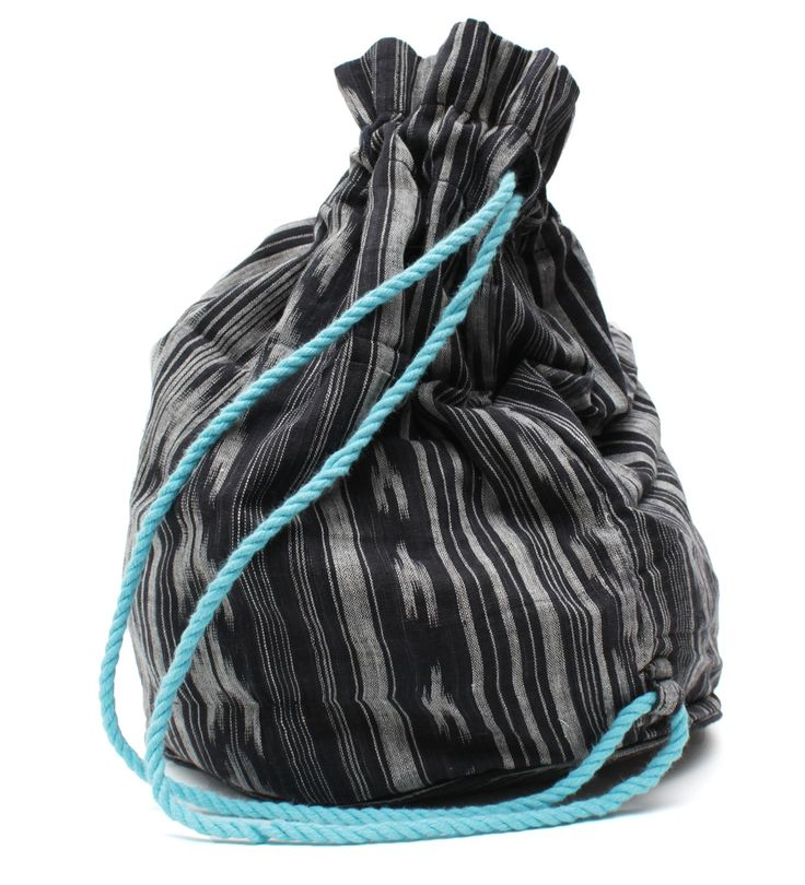 "This stylish lightweight drawstring backpack is the perfect quick and easy bag for those impromptu trips to the beach, park, shopping malls, or sleepovers at grandparents' house.  It is also useful for toy storage on-the-go.  • Trendy design, high quality materials.  • Features include a simple drawstring closure and a roomy fully lined main compartment.  • Measures: 13"" x 9""  • Recommended age: 3+"