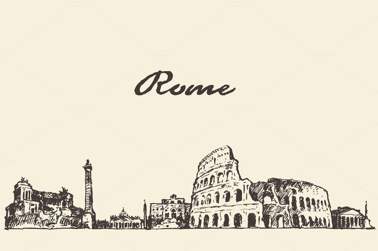 Rome skyline, Italy by grop on @creativemarket