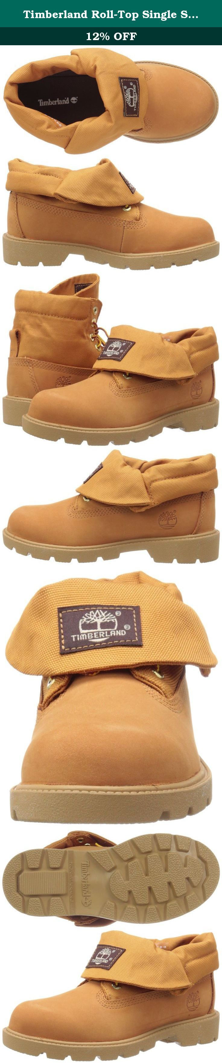 Timberland Roll-Top Single Shot Boot (Toddler/Little Kid/Big Kid), Wheat Nubuck, 7.5 M US Toddler. The Timberland Roll-Top Single Shot Boot is as functional as it is stylish. Its fold-over look gives it a fashionable appearance, while the lace closure offers an adjustable fit. The non-marking outsole of the boot provides dependable traction and grip while walking. Its steel shank gives support to the arch and ankle. Lined with PET mesh lining, the inside of the boot is non-abrasive for…