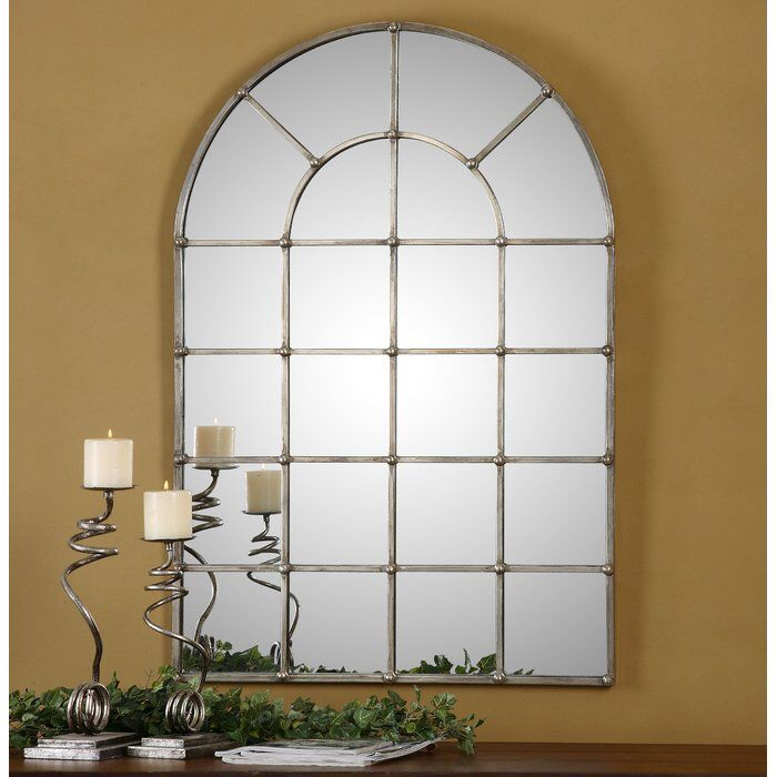 Metal Arch Window Wall Mirror
