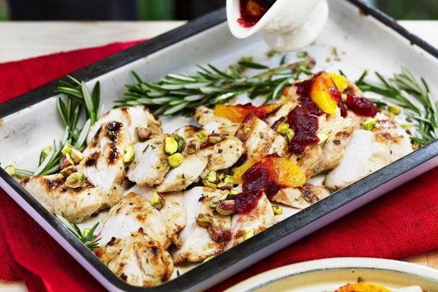 This delicious Turkey Breast with Cranberry Sauce is perfect for a BBQ Christmas.