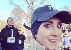 Selfies for every mile of the race... too bad this looks like a certain quitter