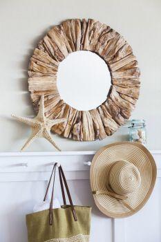 """driftwood mirror 27.5"""" D"""