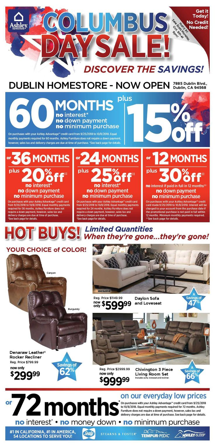 Ashley furniture weekly deals flyer january 15 21 2019