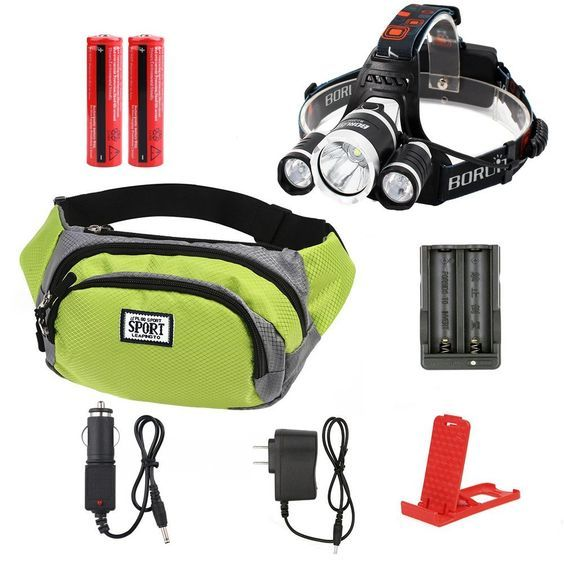 KAZOKU 6000 Lumen Bright Headlight Headlamp Flashlight Torch 3 CREE XM-L2 T6 LED with Rechargeable Batteries and Wall Charger for Hiking Camping Riding Fishing Hunting -- Want additional info? Click on the image.